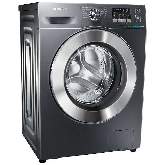BuySamsung WF70F5E2W4X ecobubble™ Freestanding Washing Machine, 7kg Load, A+++ Energy Rating, 1400rpm Spin, Graphite Online at johnlewis.com
