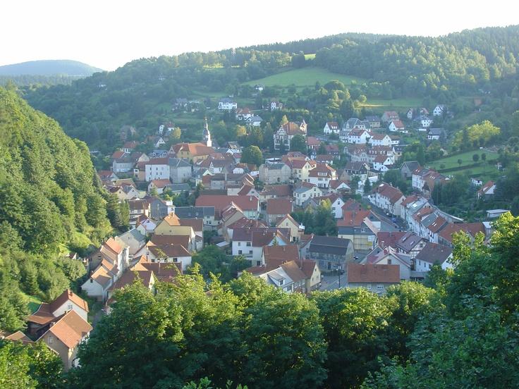 Blick auf Kleinschmalkalden (Thüringen)