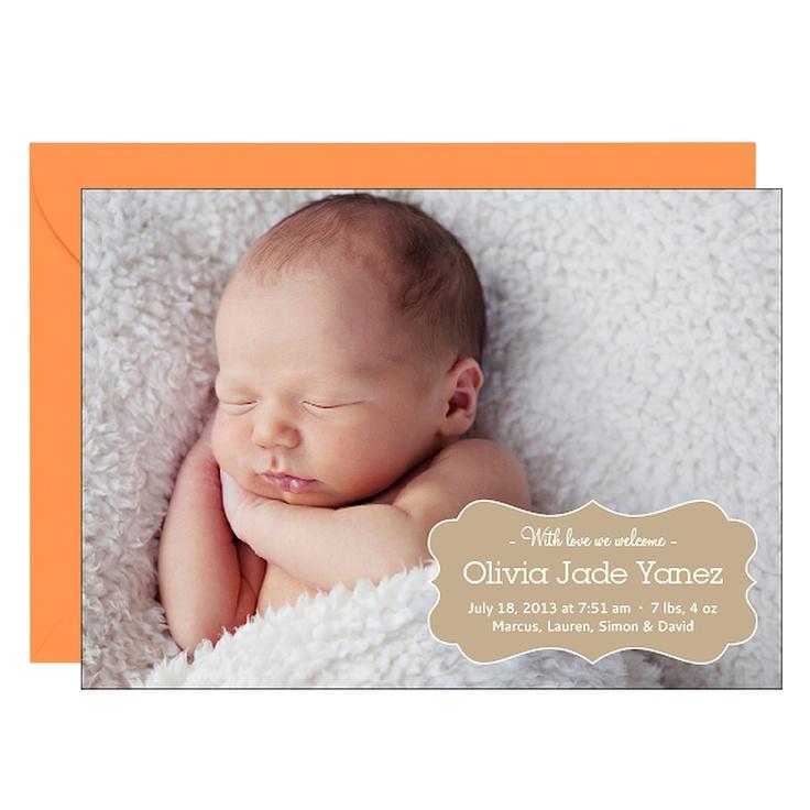26 best Christening Ideas images – Unique Birth Announcement Cards