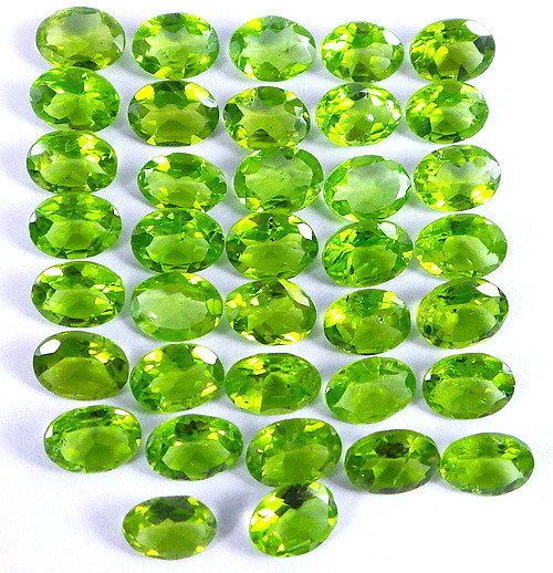 VVS 42.90 CT//37 PCS NATURAL UNHEATED GREEN PERIDOT LOOSE GEMS FOR JEWELRY 7-8mm #gemsindiaTopRatedPowerSeller5RatingeBay