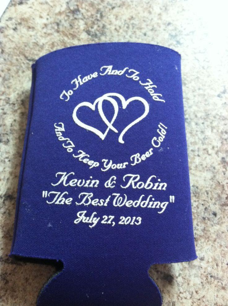 Wedding favors koozie 10ozkoozie wedding beer beer koozie