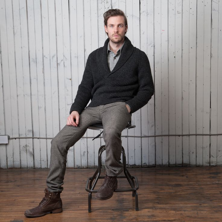 hand loomed sweaters - made in Canada, worn the world over #menswear #18waits #fall #winter