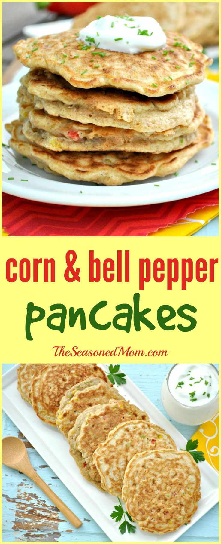 Corn and Bell Pepper Pancakes are a perfect make-ahead summer side ...