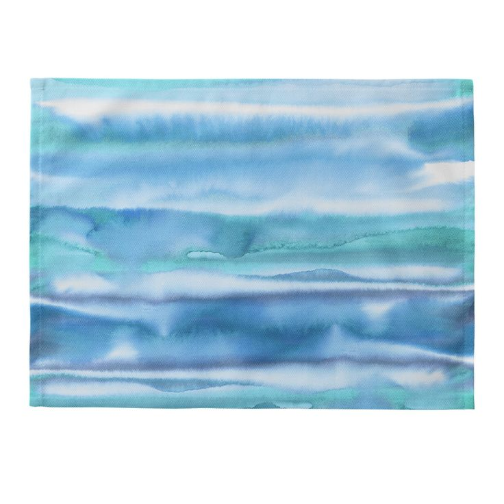 Amy Sia Watercolor Stripe Blue Placemat | Deny Designs