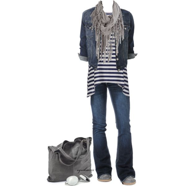Jeans and a T~Super Casual, created by cynthia335 on Polyvore