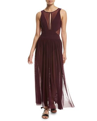 Aspire+Layered+Mesh+Maxi+Coverup+Skirt,+Purple+and+Matching+Items+by+JETS+by+Jessika+Allen+at+Neiman+Marcus.