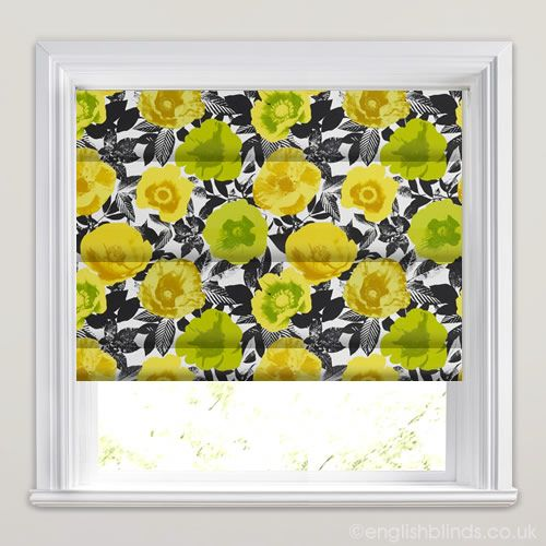 Menton Citrus Orange Yellow Roman Blinds - Wide