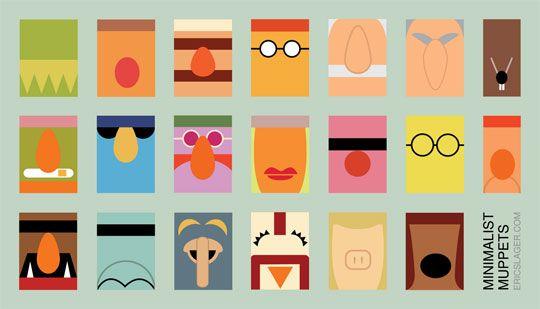 Minimalist Muppet PosterMinimalist Design, Eric Slager, Jim Henson, Art, Graphics Design, Minimalist Muppets, Muppets Posters, The Muppets, Paper Bags Puppets