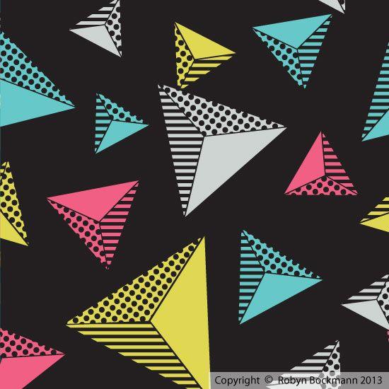 """Pyramid"" Original surface pattern by Robyn Bockmann.  Copyright 2013."