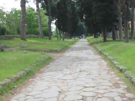 Visiting the Appian Way - Typical Stretch Of Appian Way (Via Appia Antica) Near Rome