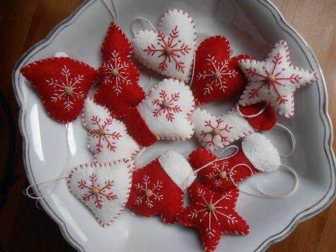 Szívek,csillagok,csizmák kesztyűk,Karácsonyi dekoráció..., Dekoráció, Karácsonyi, adventi apróságok, Otthon, lakberendezés, Karácsonyi dekoráció, Meska