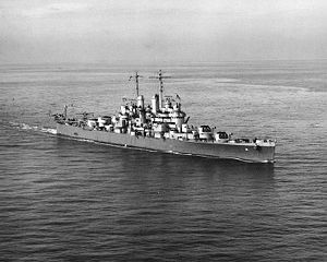Ship- USS Cleveland CL-55, Light Cruiser