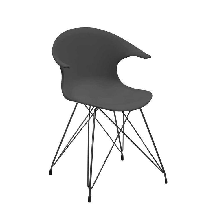 Design Stuhl In Dunkelgrau Kunststoff (4er Set) Jetzt Bestellen Unter:  Https://moebel.ladendirekt.de/kueche Und Esszimmer/stuehle Und Hocker/ ...