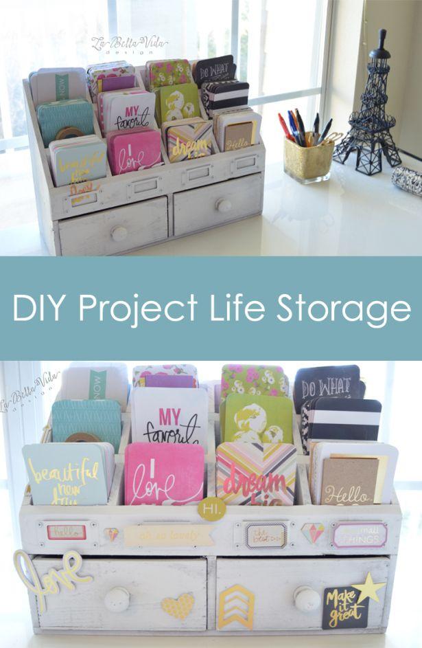 La Bella Vida Design DIY Project Life Card Storage www.labellavidadesign.com