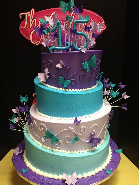 wedding cakes turquoise and purple turquoise and purple quince cake flickr photo 25793