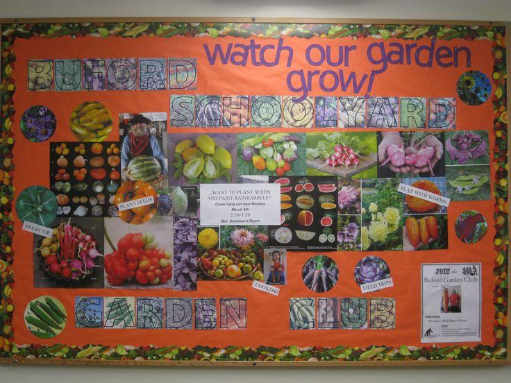 School garden bulletin board