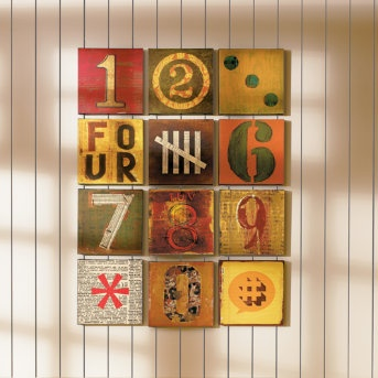 number wall art:: love