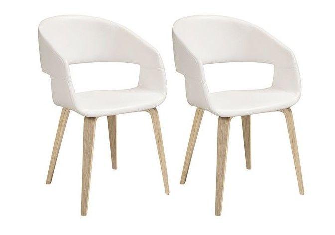 Chaises Scandinaves Lot De 2 Slam Blanc Et Bois Pas Cher Chaises Miliboo Chaise Scandinave Chaises Rembourrees Table A Manger Design