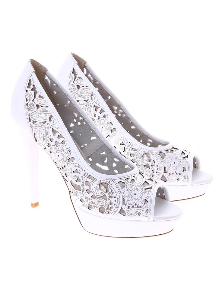 Massimo Zardi pantofi albi pentru dame de la Shopamor    piele naturala