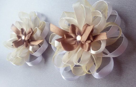 Set of 2 wedding corsages with handmade by Rocreanique