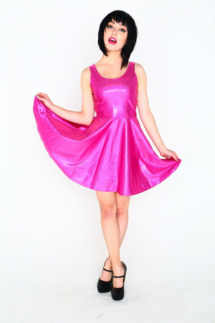 Pink Lightning skater dress