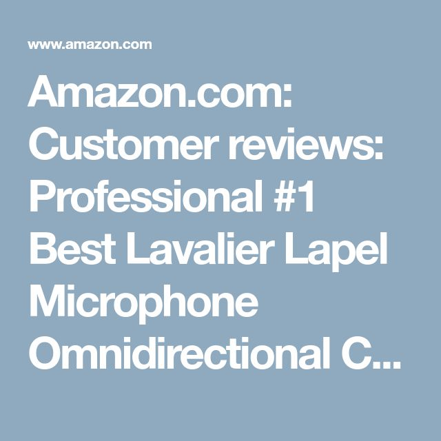 Amazon.com: Customer reviews: Professional #1 Best Lavalier Lapel Microphone Omnidirectional Condenser Mic for Apple IPhone Android & Windows Smartphones,Youtube,Interview,Studio,Video Recording,Noise Cancelling Mic