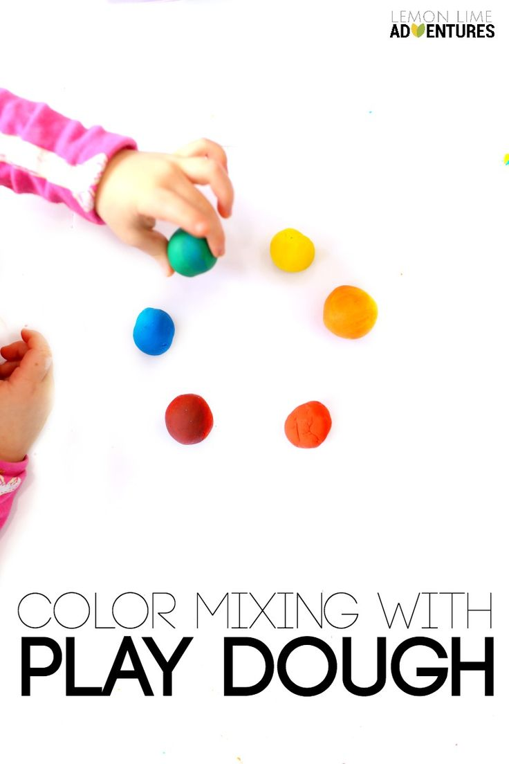 Online color mixer tool - Color Mixing With Play Dough