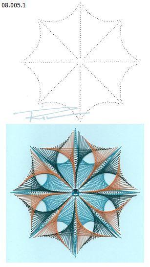 String art template. Free DIY