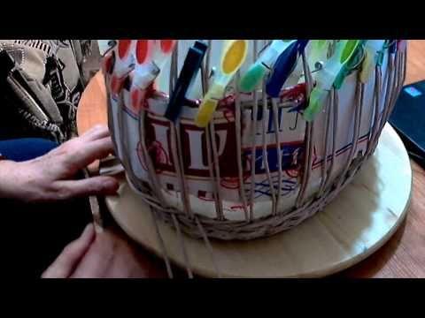 мк корзинки с витой ручкой часть1 - YouTube