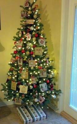 Hanging On By A Thread: Cross Stitch Ornament Tree 2013....