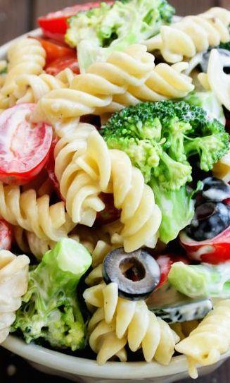 Pasta & Broccoli Salad with Creamy Lemon Dressing