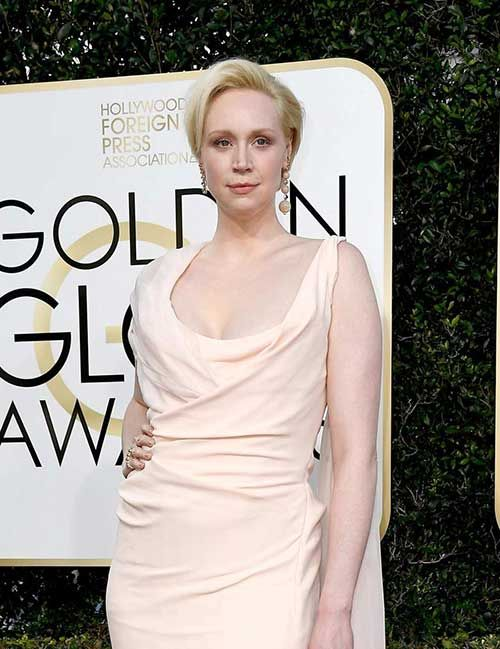 Celebs with Short Hair at the Golden Globes 2017: #7. Gwendoline Christie