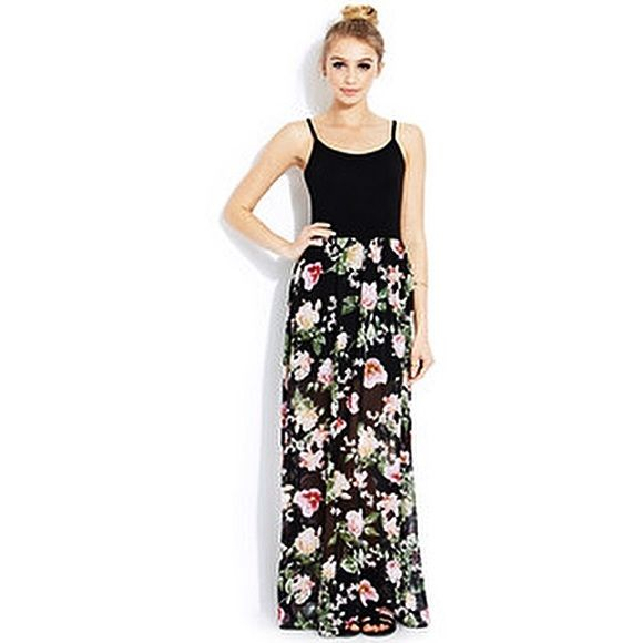 Floral Chiffon Maxi Dress Floral Chiffon Maxi Dress. Low back. Adjustable straps. Sheer chiffon with slip. Dresses Maxi