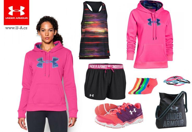 Dámský sportovní outfit na běh, fitness i běžné nošení. Vše od Under Armour