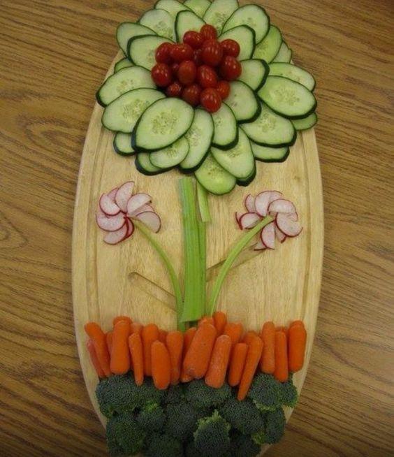 Spring Veggie Platter #Easter #veggielove #appetizer