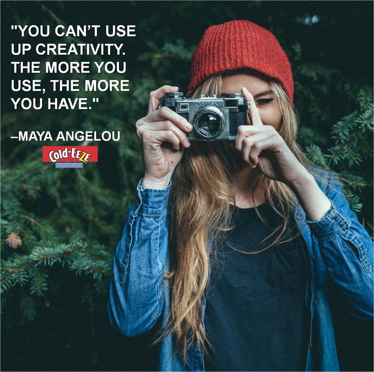 """""""You can't use up creativity. The more you use, the more you have."""" –Maya Angelou #Motivation"""