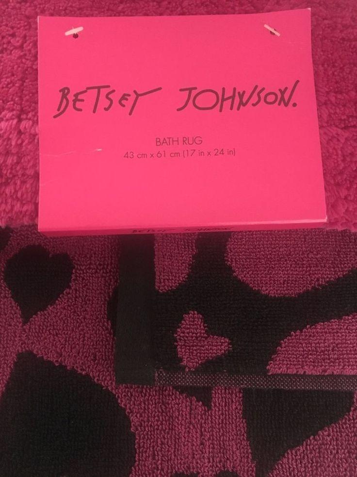 Betsey Johnson Hand Towel & Bath Rug Heart Attack Pink #BetseyJohnson #Towel #Rug #Bath #Bathroom #Pink #Heart #BathRug #HeartAttack #Home #Decoration #HomeDecoration