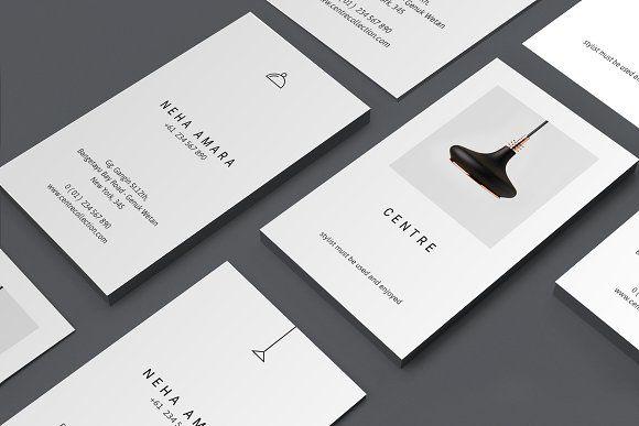 C E N T R E Business Cards Vertical Business Card Template Vertical Business Cards Business Cards Creative Templates