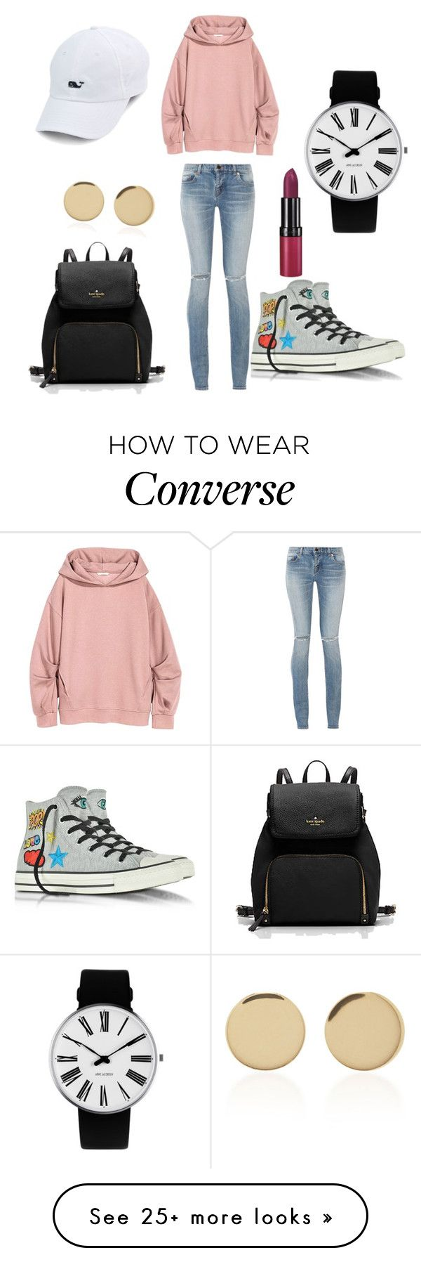 """""""how ? """" by besan-hu on Polyvore featuring Yves Saint Laurent, Converse, Rosendahl, Rimmel and Magdalena Frackowiak"""