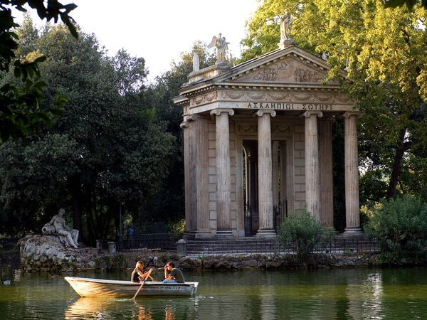 One of the world's best picnic spots.  Beautiful!  Villa Borghese Gardens, Rome, Italy