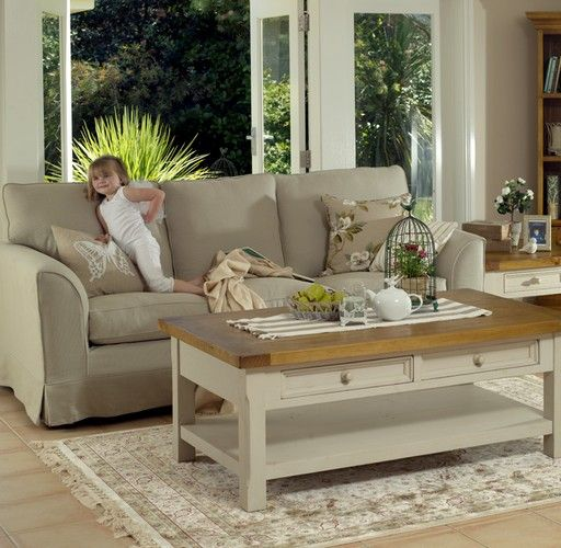 Tuscan 2 Drawer Coffee Table (1200W x 600D x 450H mm) RRP $520