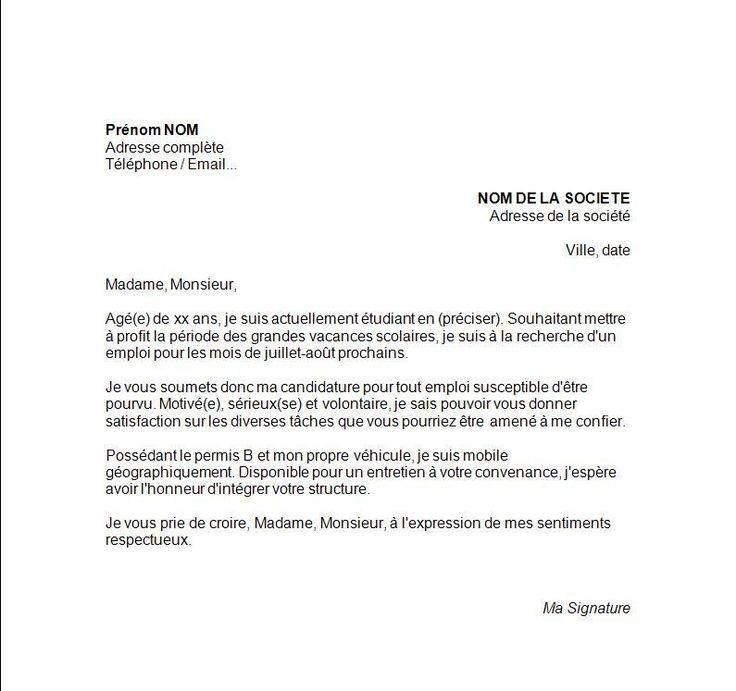 8 Exemple Lettre De Motivation Management Projet Modele Lettre De Motivation Lettre De Motivation Job Etudiant Lettre De Motivation