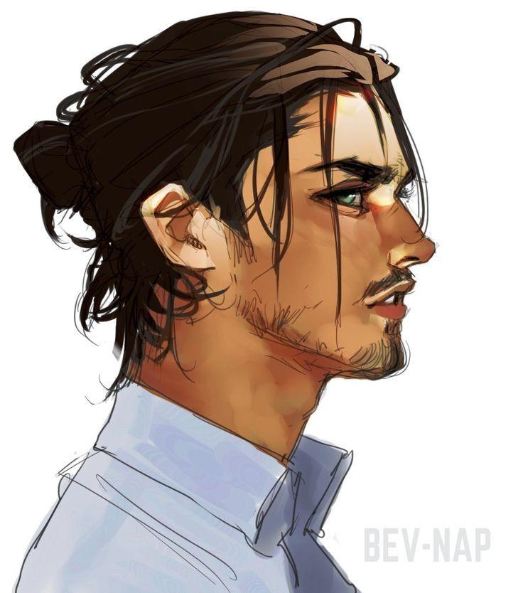 Eren Jaeger Long Hair In 2020 Concept Art Characters Long Hair Styles Boy Art