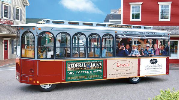 Need to get around Kennebunkport? Hop aboard the Intown Trolley Tour!Hop Aboard, Colors Commentary, Favorite Things, Favorite Places, Intown Trolley, Town History, Include Colors, Spout Rocks, Franciscan Monastery