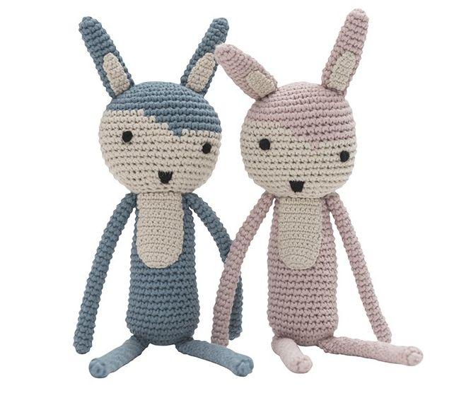 Sød Sebra kanin i pastel farver - Tinga Tango Designbutik  #bamse#legetøj#børneværelse#sebra