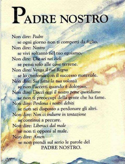Padre Nostro.....