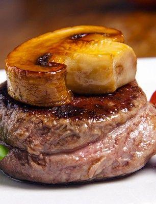Biftek se žampionem