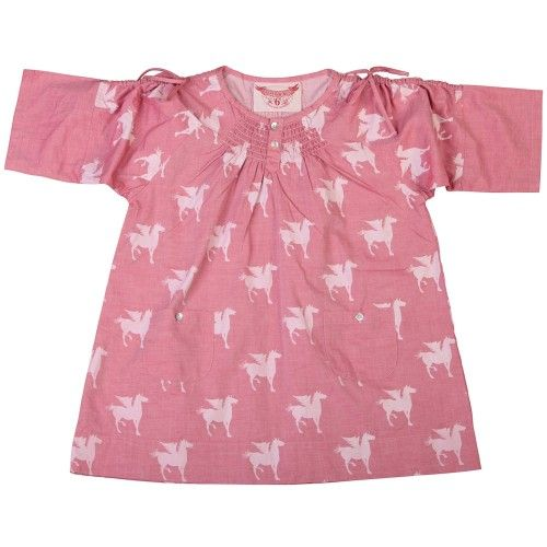 another classic paper wings' style that will bring some fantasy to your little girl's life without being too cutesywith two front pockets and drawstrings on the sleevesin faded red chambraymade from 100% cotton $79.95