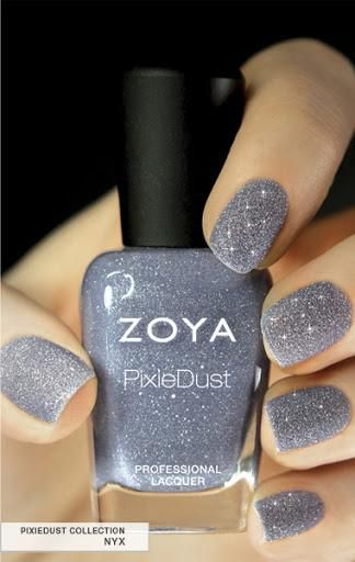 Zoya Nail Polish in Nyx can be best described as a perfect periwinkle with a sugared sparkle
