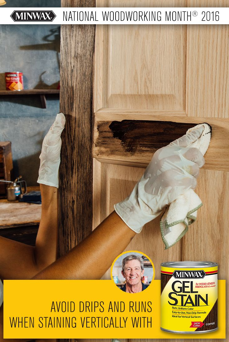 If you've ever stained a door or any other vertical surface, you know that drips and runs are your worst enemy. Fortunately, Minwax® Gel Stain is specially designed to give you full control over the staining process and help you achieve beautiful results on your next #DIY project! #NWWM